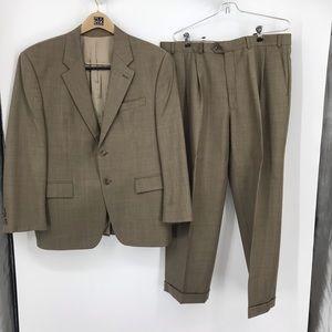 Men's Lauren Ralph Lauren Size 42 Short Brown Suit